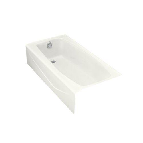 Villager 60-inch Left-Hand Drain Rectangular Alcove Bathtub in White