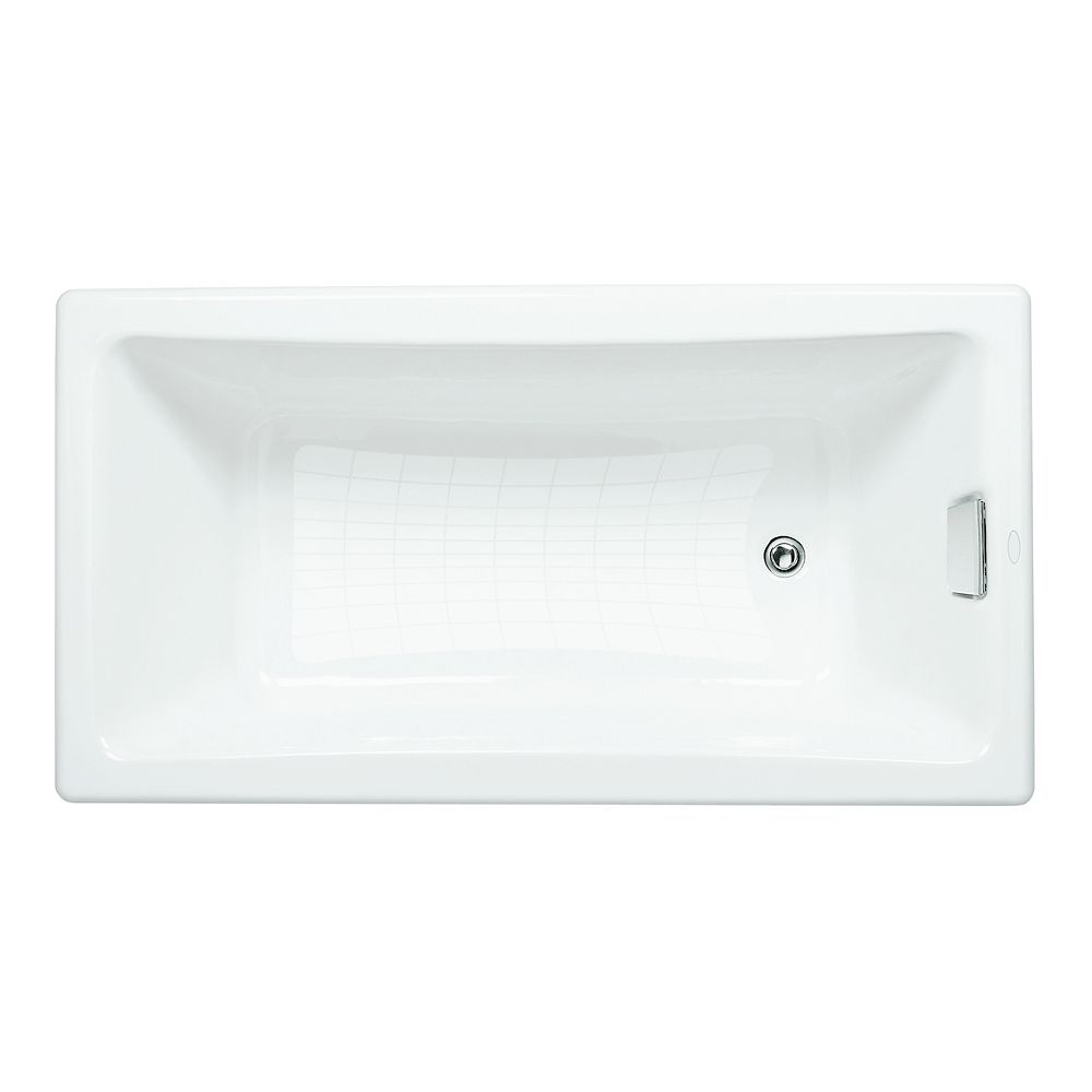 """KOHLER Tea-for-Two(R) 60"""" x 32"""" drop-in bath with reversible drain"""