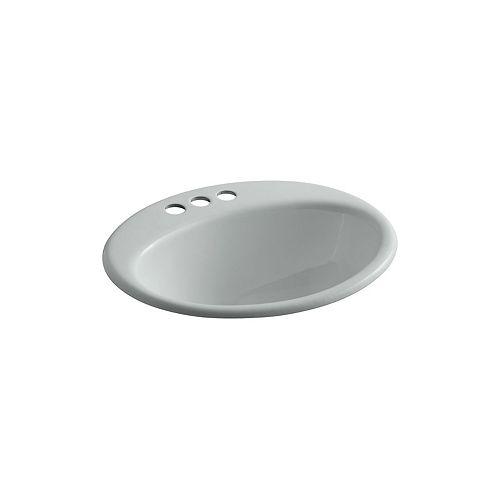 Farmington(R) drop-in bathroom sink with 4 inch centerset faucet holes