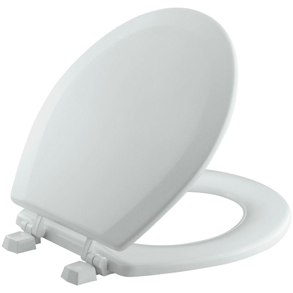 KOHLER Triko Round Closed Front Toilet Seat in Ice Grey