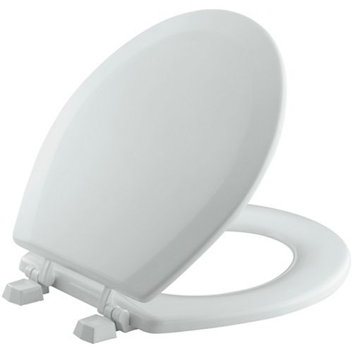 Siege de toilette arrondi Triko avec charnieres en plastique