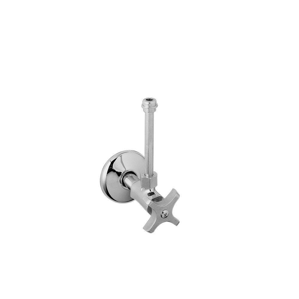 """KOHLER Pair 3/8"""" NPT angle supplies with stop, cross handle  and annealed vertical tube"""