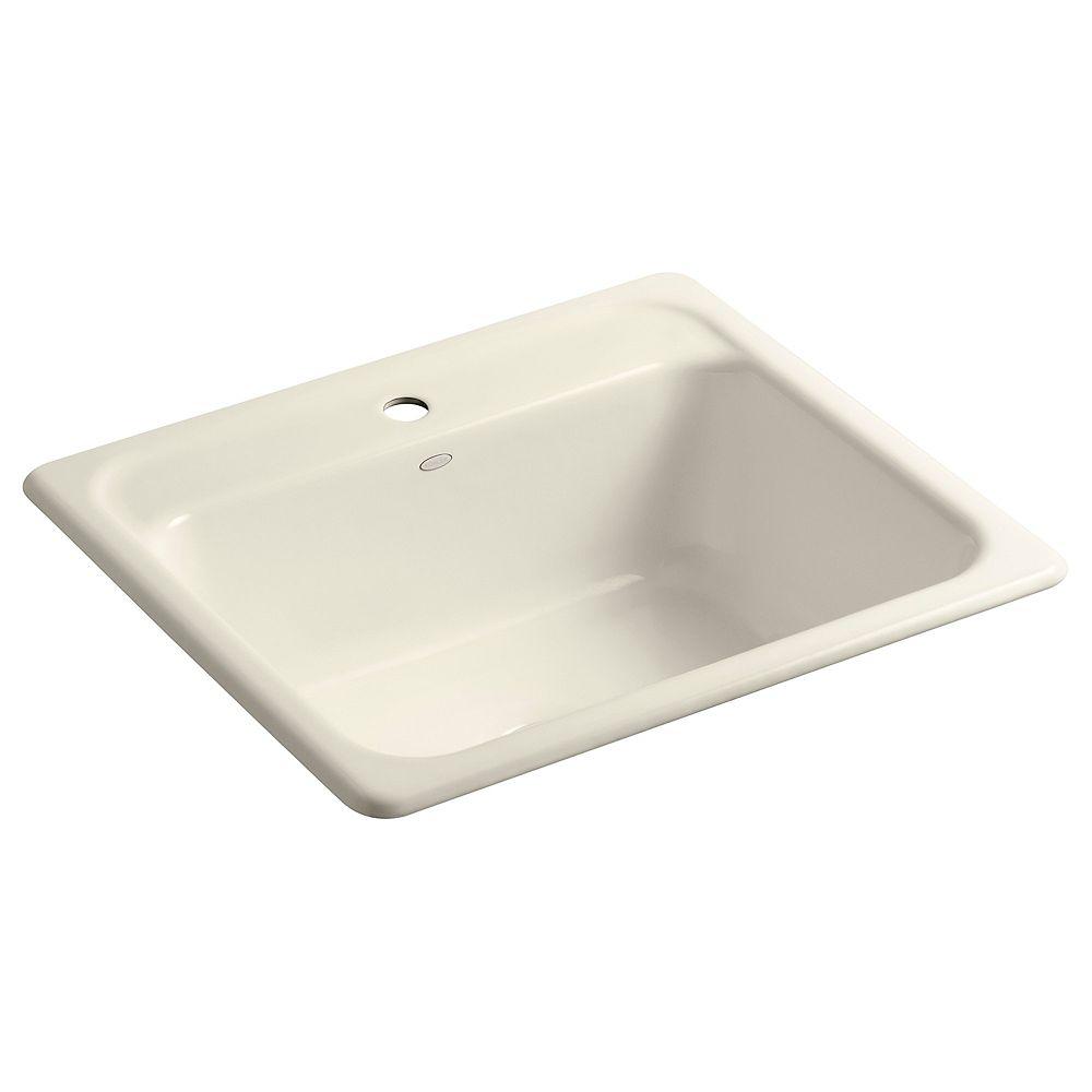 KOHLER Mayfield(Tm) Self-Rimming Kitchen Sink in Almond