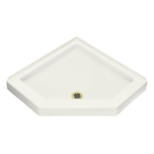 Profile Neo-Angle Shower Receptor in White