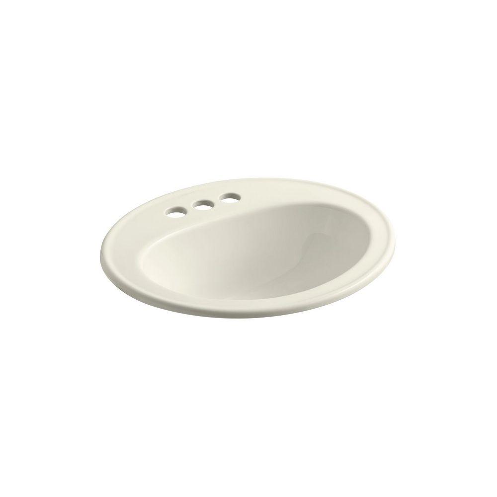 KOHLER Lavabo de salle de bain encastre Pennington avec trous pour robinet traditionnel