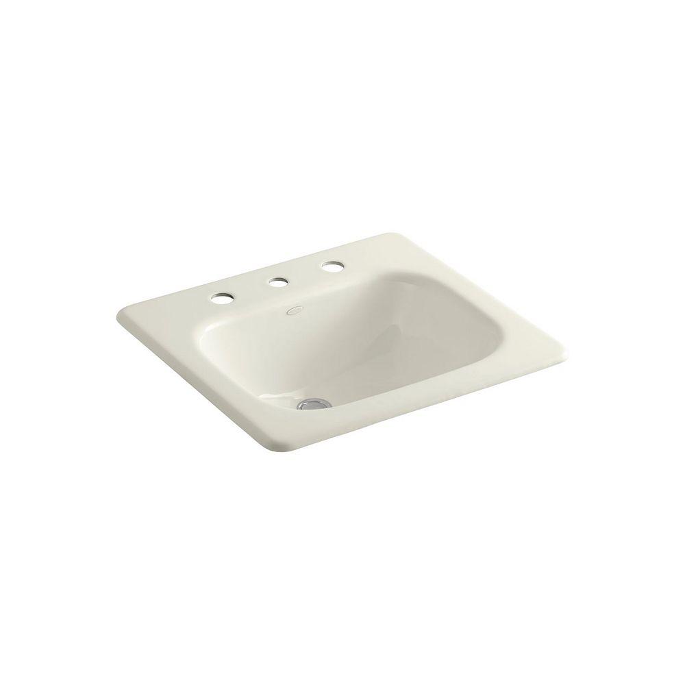 KOHLER Tahoe(R) drop-in bathroom sink with 8 inch widespread faucet holes