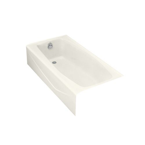 "Villager(R) 60"" x 30"" alcove bath with integral apron and left-hand drain"