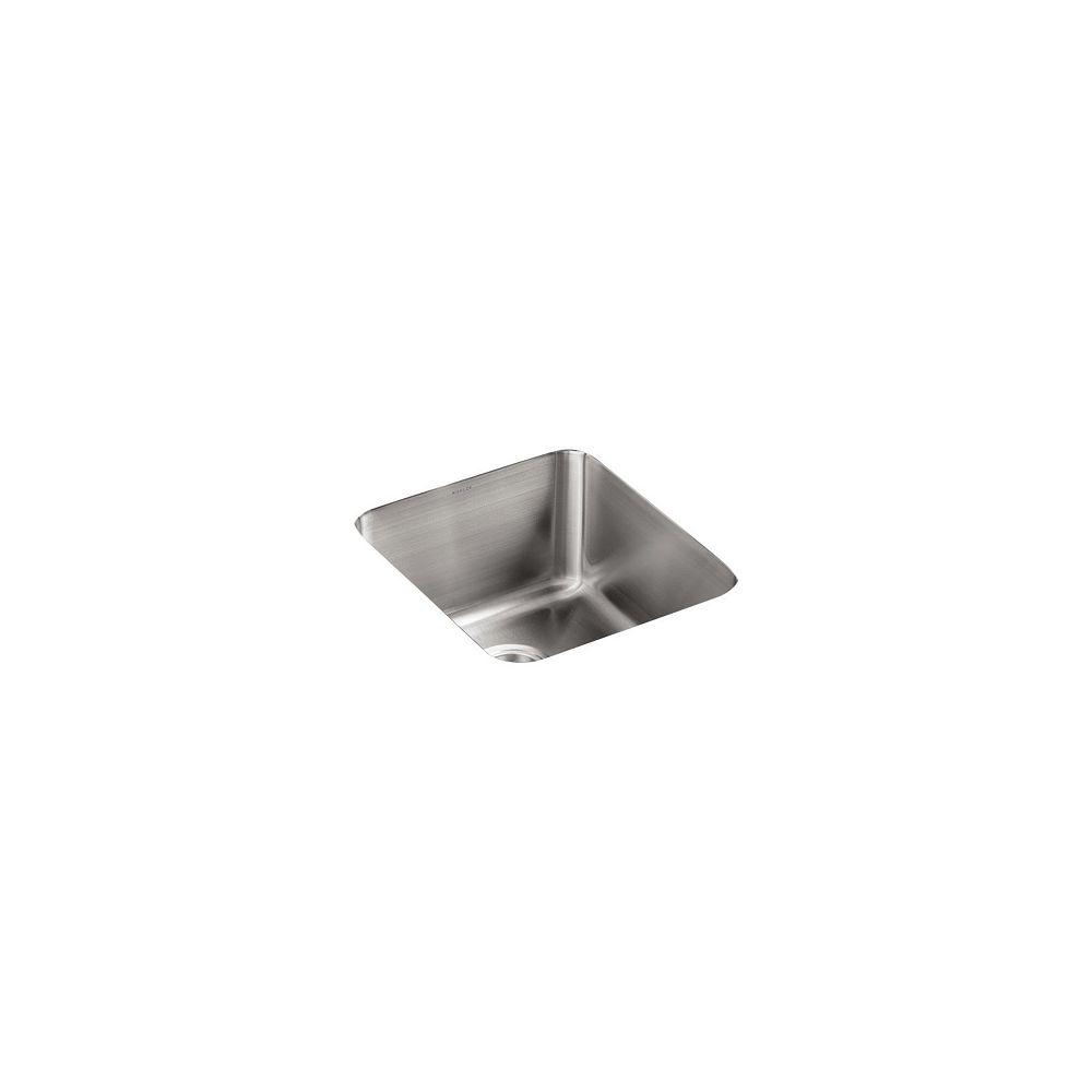 KOHLER Undertone Medium Squared Undercounter Kitchen Sink