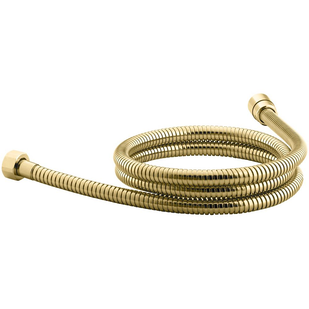 KOHLER Mastershower 60 Inch Metal Shower Hose in Vibrant Polished Brass