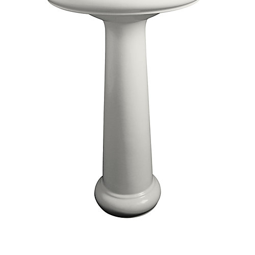 Revival Traditional Bathroom Sink Pedestal in White