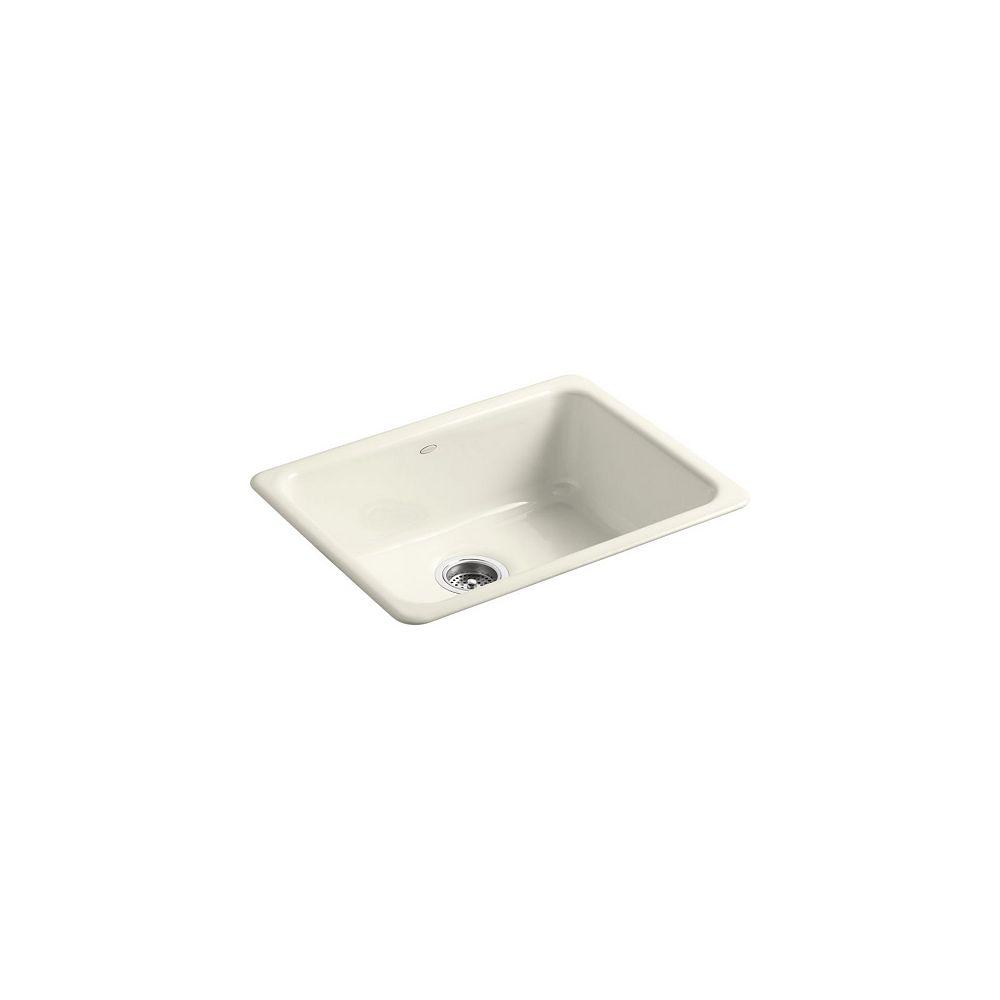 KOHLER Evier de cuisine simple Iron/Tones a installation sur surface ou en sous-surface, 24 1/4 x 18 3/4 x 8 1/4 po