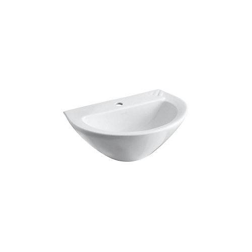 Parigi(R) pedestal bathroom sink basin with single faucet hole