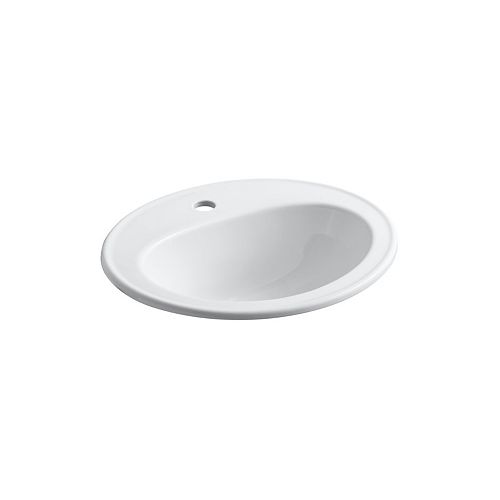 Pennington(R) drop-in bathroom sink with single faucet hole