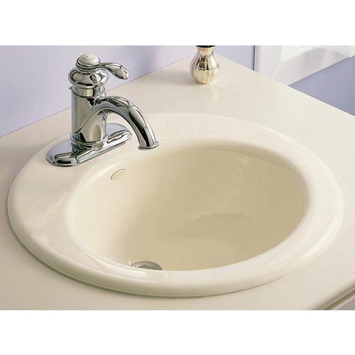 Radiant Self-Rimming Bathroom Sink in White