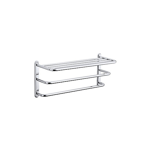 Revival Three-Tier Towel Shelf in Polished Chrome