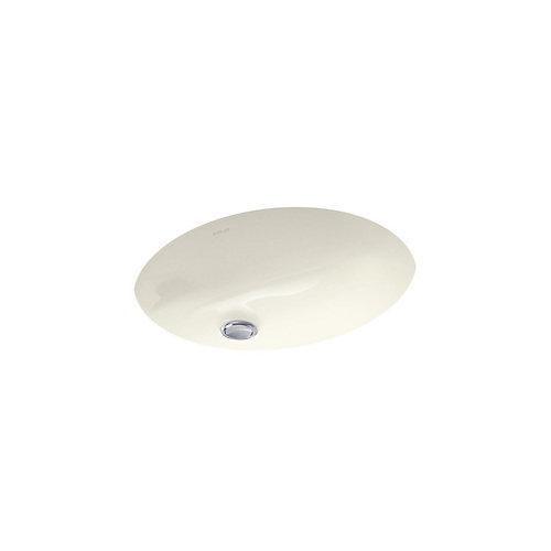 Caxton 17-inch L x 14-inch W Undercounter Bathroom Sink in Biscuit