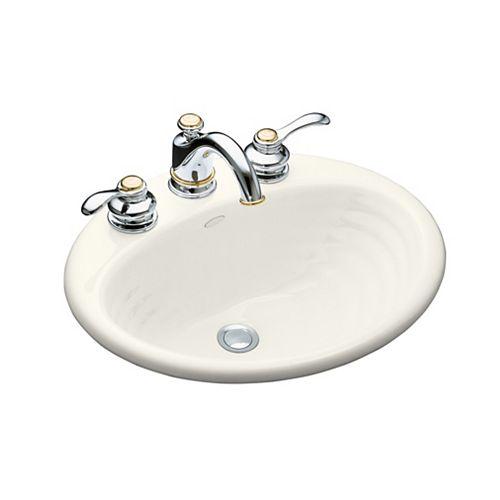 KOHLER Ellington Self-Rimming Bathroom Sink in Biscuit