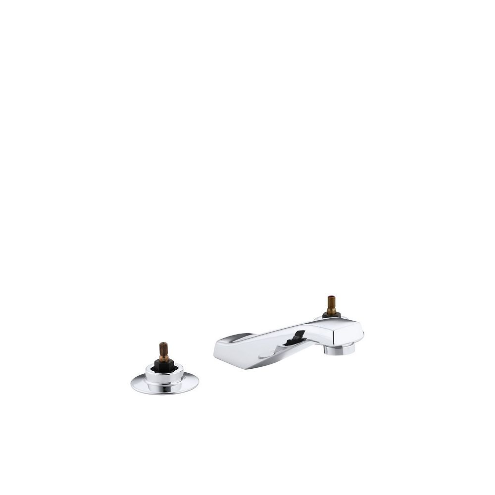 KOHLER Triton(R) widespread commercial bathroom sink faucet with vandal-resistant aerator, requires handles, drain not included