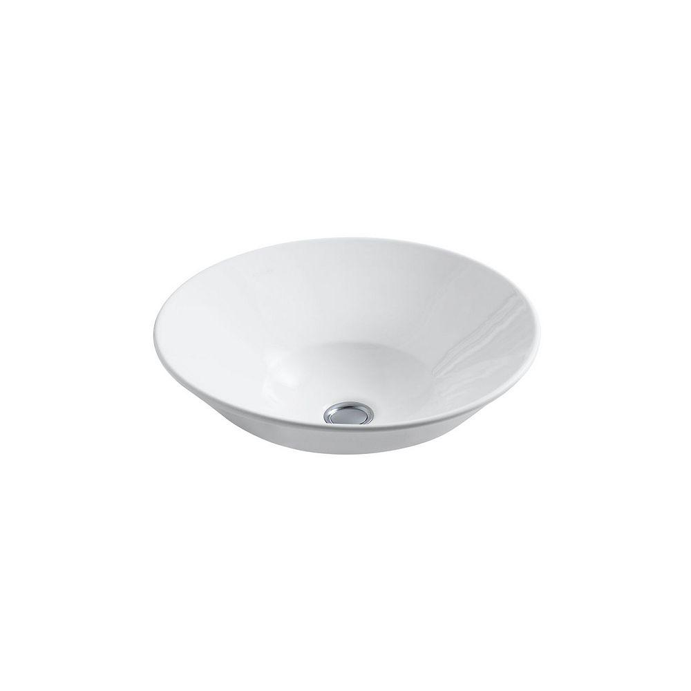 KOHLER Conical Bell(R) vessel or wall-mount bathroom sink with glazed underside