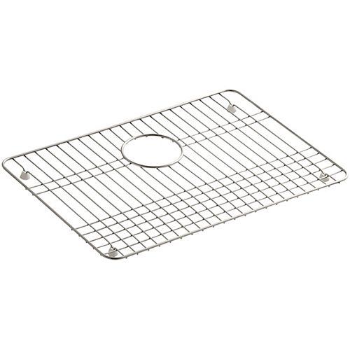 Support d'evier en acier inoxydable, 19 1/2 x 14 po pour eviers de cuisine Iron/Tones