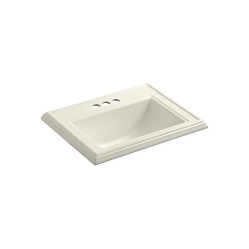 Memoirs(R) Classic drop-in bathroom sink with 4 inch centerset faucet holes