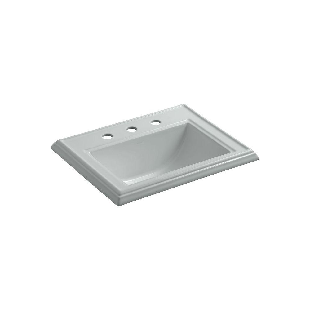 KOHLER Lavabo de salle de bain encastre classique Memoirs avec trous pour robinet deploye de 8 po