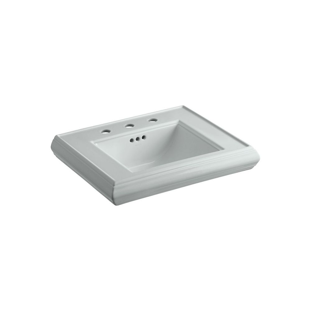 KOHLER Memoirs(R) pedestal/console table bathroom sink basin with 8 inch widespread faucet holes