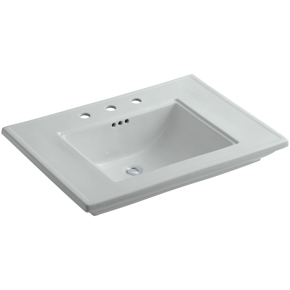 KOHLER Lavabo de salle de bain Memoirs, modele Stately, 30 po, avec trous pour robinet deploye de 8 po