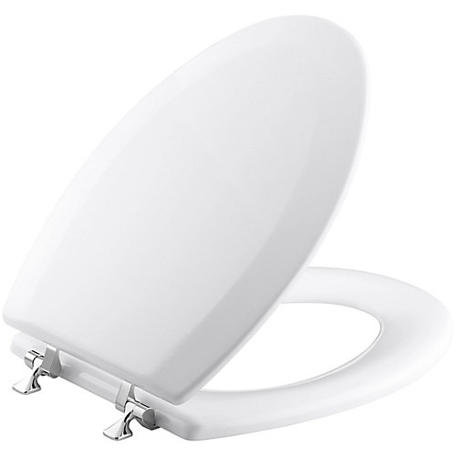 Triko Elongated Closed Front Toilet Seat in White