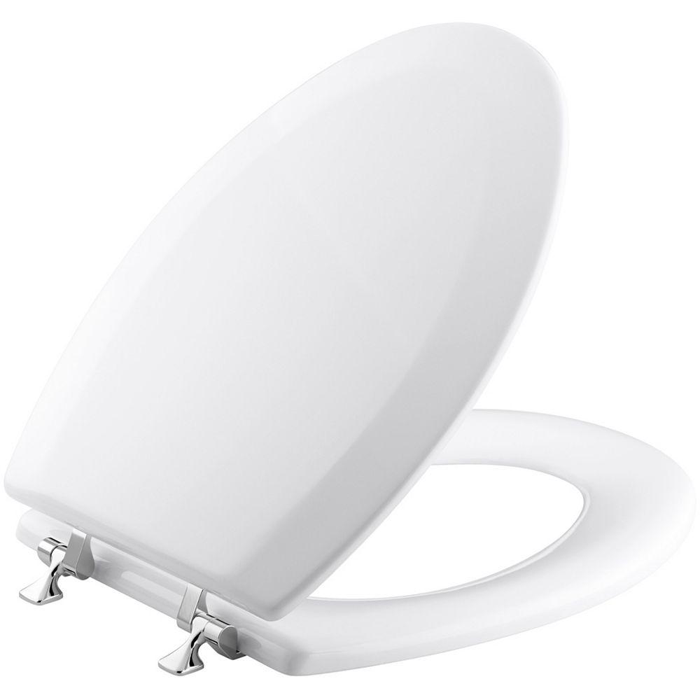 KOHLER Triko Elongated Closed Front Toilet Seat in White