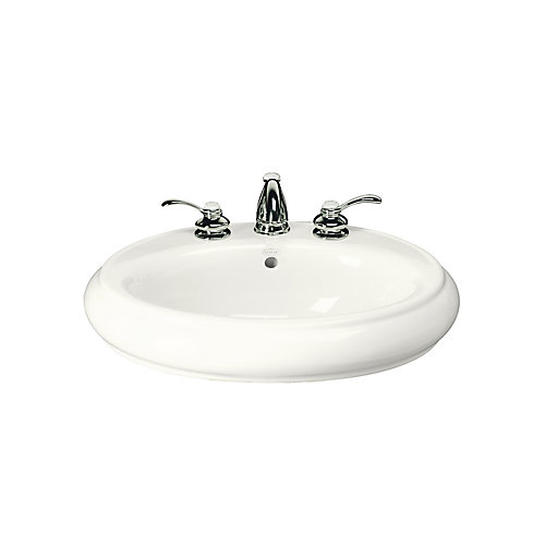 Revival Bathroom Pedestal Sink Basin in White
