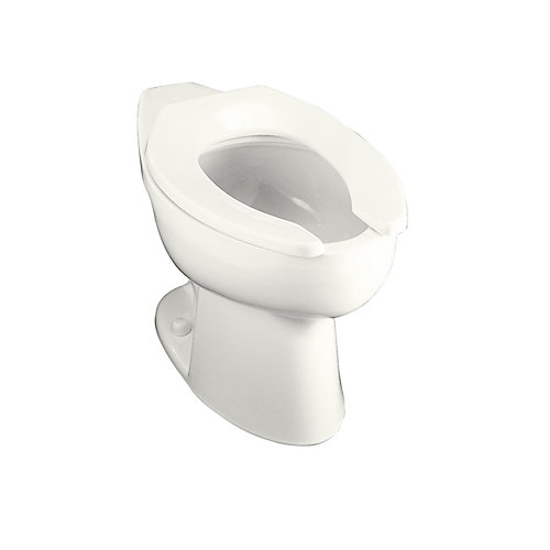 Highcrest Elongated Bowl Toilet Bowl Only in White