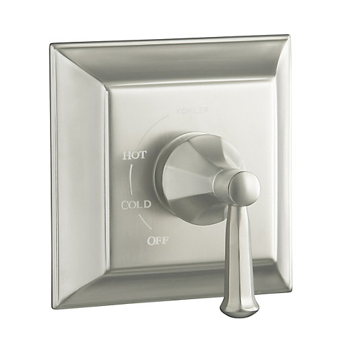 Memoirs Rite-Temp Pressure-Balancing Valve Trim With Stately Design, Valve Not Included in Vibrant Brushed Nickel