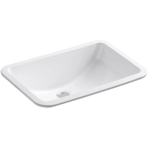 Ladena(R) 20-7/8 inch x 14-3/8 inch x 8-1/8 inch under-mount bathroom sink with glazed underside