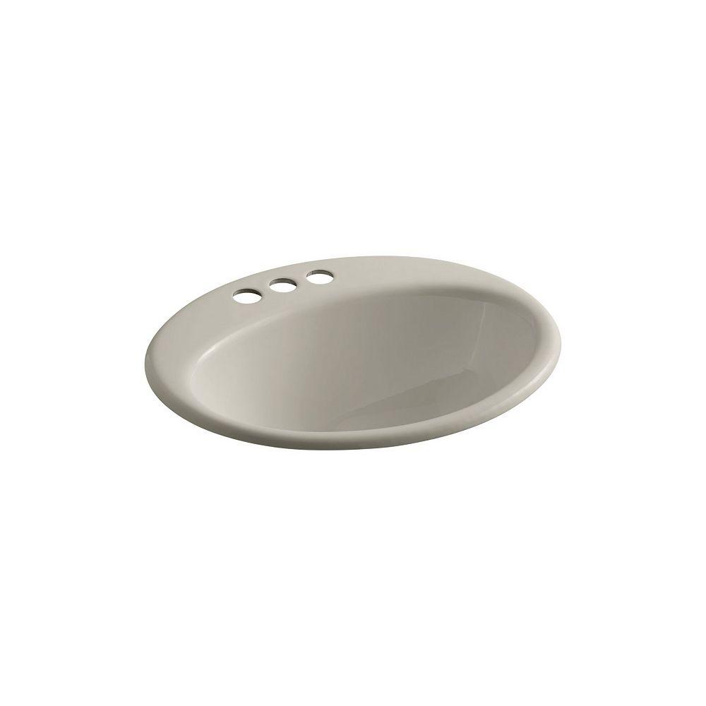 KOHLER Lavabo de salle de bain encastre Farmington avec trous pour robinet traditionnel de 4 po