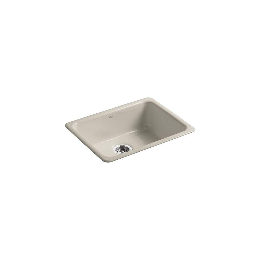 KOHLER Iron/Tones Self-Rimming/ Undercounter Kitchen Sink in Sandbar
