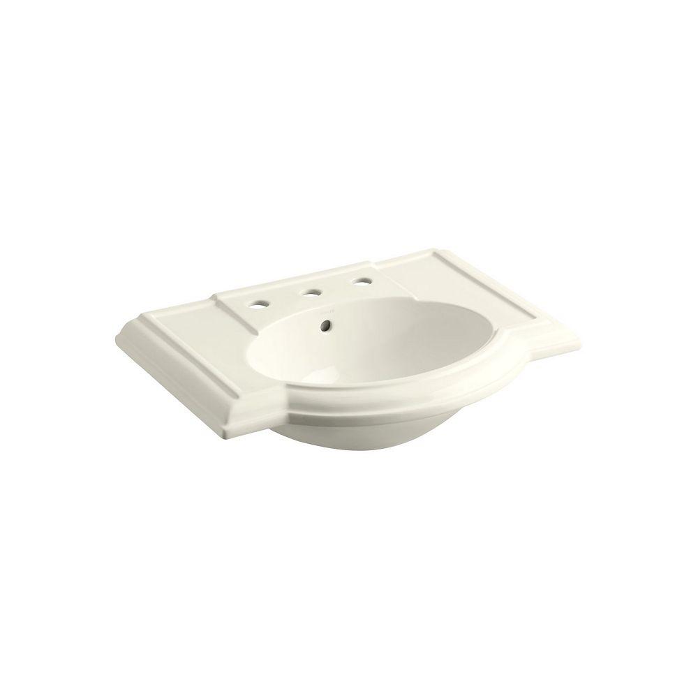 KOHLER Lavabo de salle de bain Devonshire avec trous pour robinet deploye de 8 po