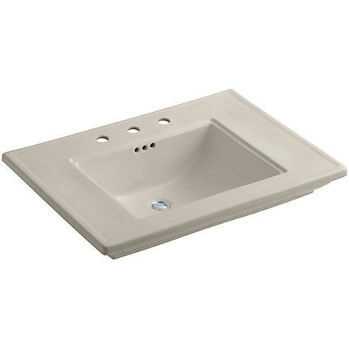 Memoirs(R) pedestal/console table bathroom sink basin with 8 inch widespread faucet holes