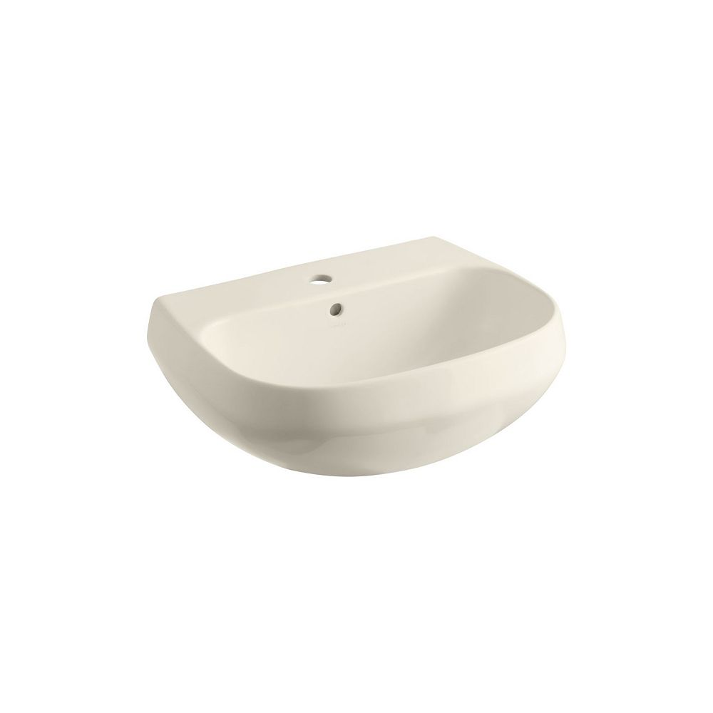 KOHLER Wellworth(R) bathroom sink basin with single faucet hole