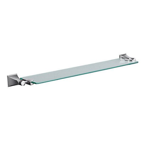 Memoirs Glass Shelf With Stately Design in Polished Chrome