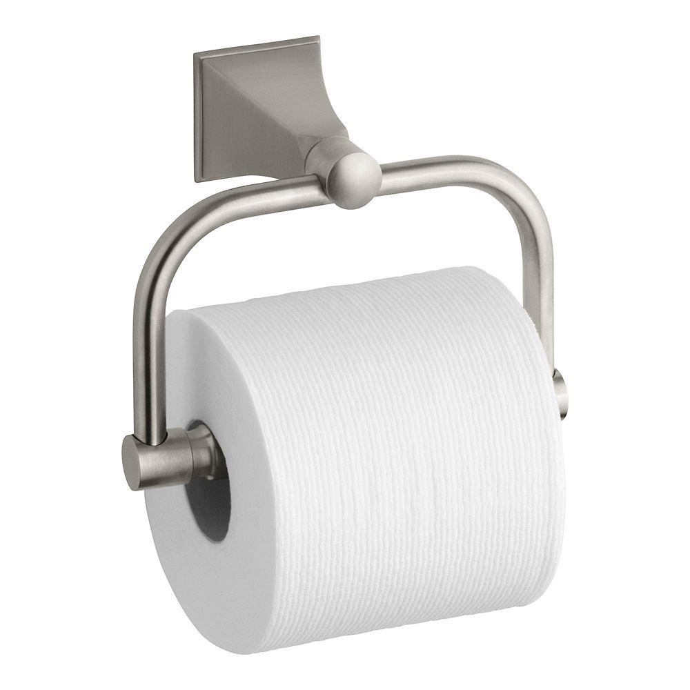 KOHLER Memoirs Wall-Mount Single Post Toilet Paper Holder with Stately Design in Vibrant Brushed Nickel