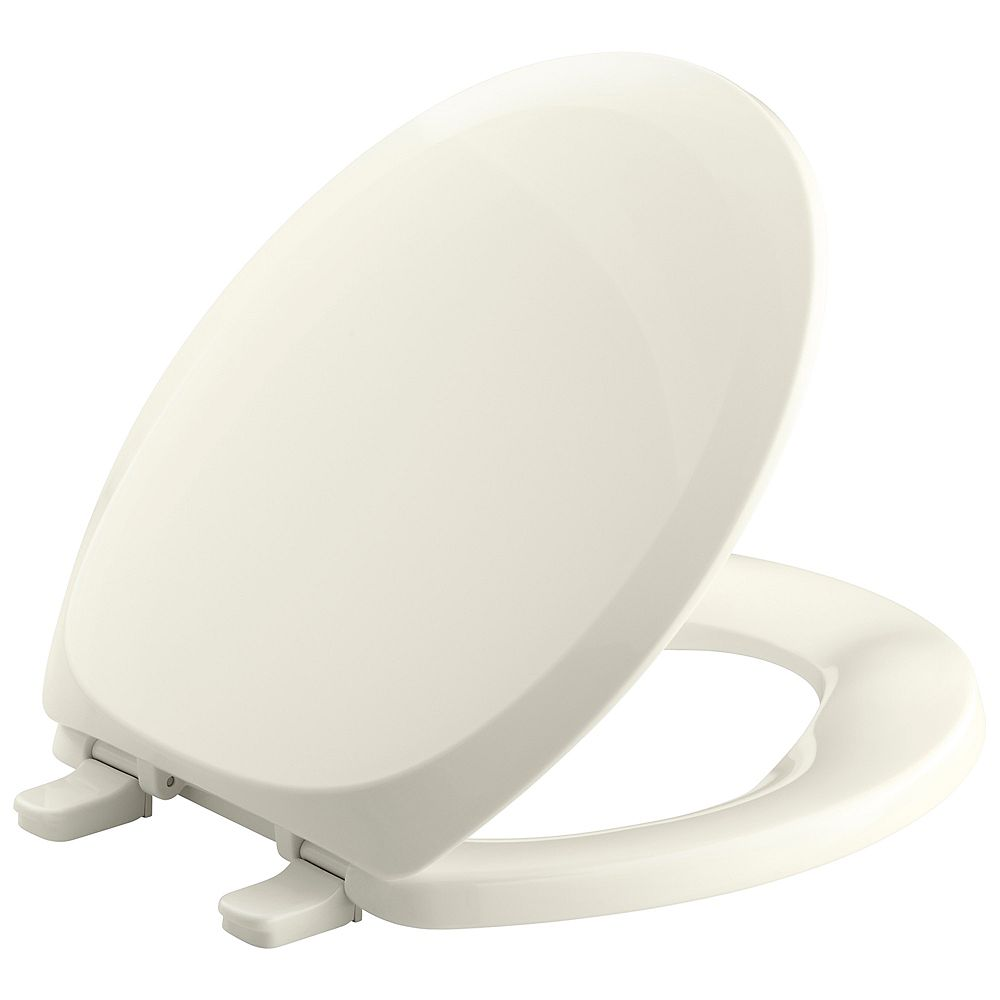 KOHLER French Curve Round Closed Front Toilet Seat in Biscuit