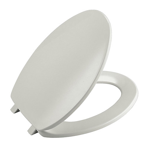 Brevia Round Toilet Seat in Ice Grey