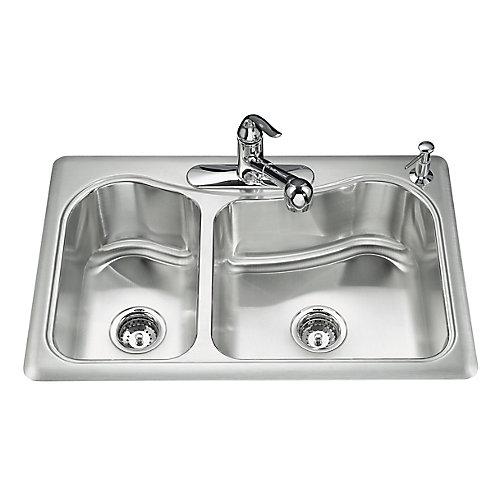 Staccato(Tm) Large/Medium Self-Rimming Kitchen Sink