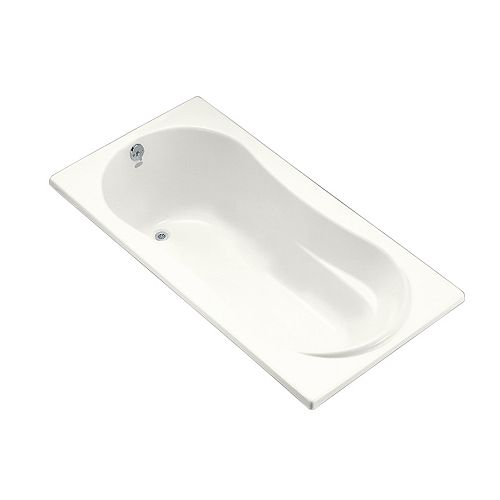 """7236 72"""" x 36"""" alcove bath with flange and left-hand drain"""