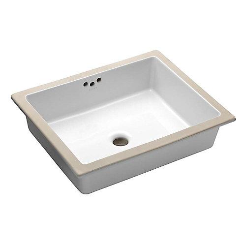 Kathryn(R) 19-3/4 inch x 15-5/8 inch x 6-1/4 inch under-mount bathroom sink