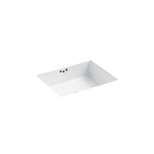 Kathryn(R) 19-3/4 inch x 15-5/8 inch x 6-1/4 inch under-mount bathroom sink with glazed underside