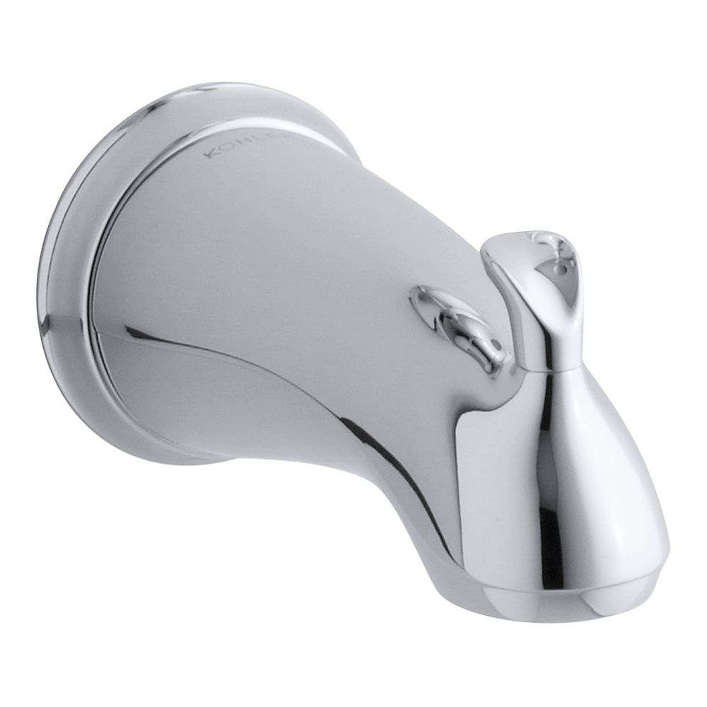 KOHLER Forté Sculpted Diverter Bath Spout in Polished Chrome