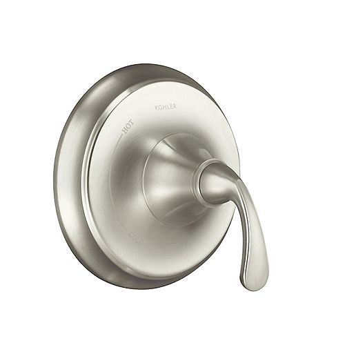 KOHLER Forté Rite-Temp Pressure-Balancing Valve Trim, Valve Not Included in Vibrant Brushed Nickel