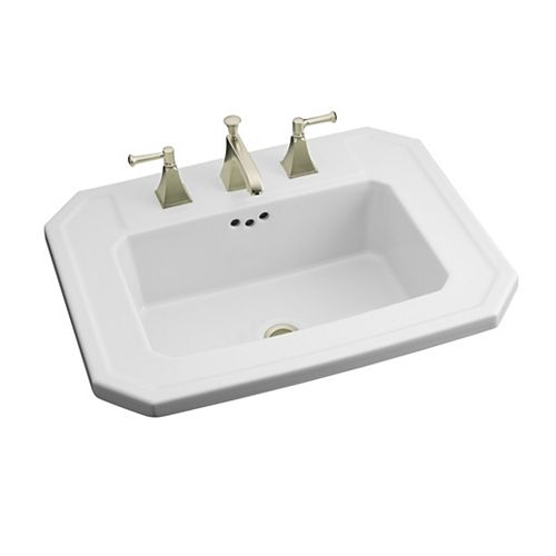 KOHLER Kathryn Self-Rimming Bathroom Sink in White